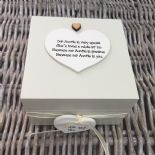 Shabby Personalised Chic Auntie Aunty Great Aunt Gift Trinket Box Jewellery Box - 253191063528